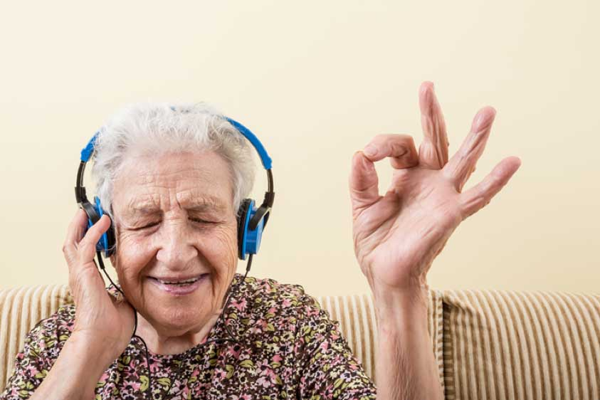 how music helps senior attitude adjustments