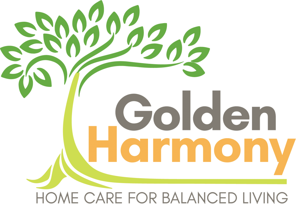 Golden Harmony Home Care for Balanced Living Logo