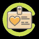 Employee badge icon
