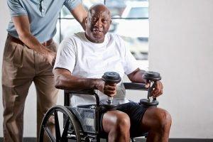 Caregiver building back seniors' strength